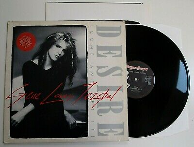 "GENE LOVES JEZEBEL - DESIRE 12"" N MINT VINYL Rare Limited Edition Poster Single"