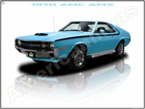 1970 American Motors AMC AMX New Metal Sign: Pristine Restoration