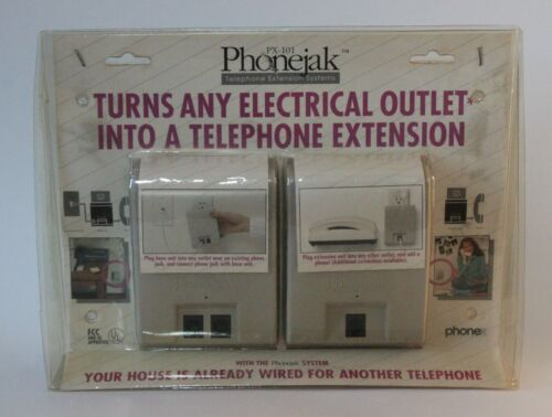Phonejak PX101 Turns Electrical Outlet Into Extra Telephone Extension USA Made