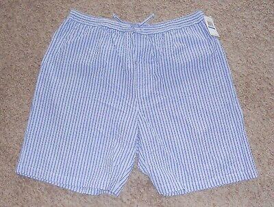 Nautica Sleepwear Men's Size XL !NWT! Seersucker Cotton Sleep Pajama Shorts