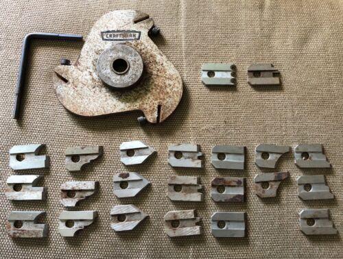 Vintage Craftsman Tongue & Groove Cutter Blades, 22 blades