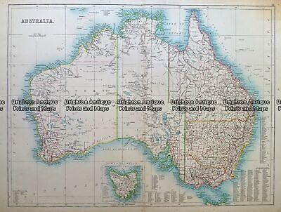 Antique Map 232- 268 Australia c.1890