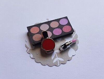MAKEUP set 1:12th scale dolls house miniature dressing table perfume lipstick