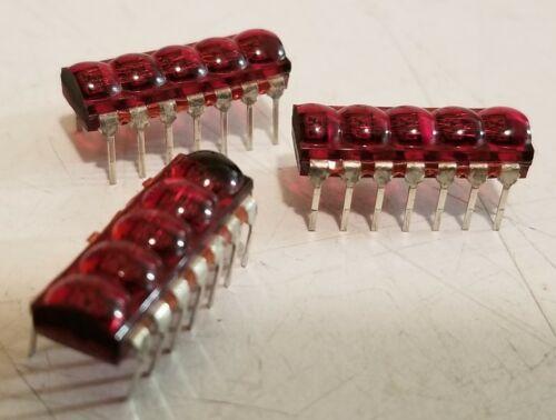 LOT OF THREE - Vintage HP 1990-0335 5-digit DIP display modules - HP-46 HP-81