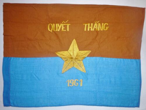 VC CAR FLAG - Viet Cong - 1961 - NATIONAL LIBERATION FRONT - Vietnam War - 3425