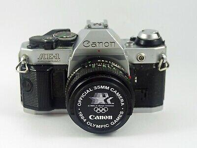 Canon AE-1 Program 35mm Manual SLR Film Camera with 50mm 1:1.8 Lens