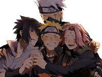 Poster A3 Naruto Shippuden Grupo 7 Naruto Kakashi Sasuke Sakura -  - ebay.es