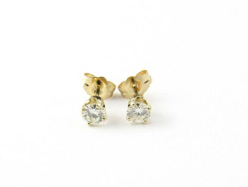 Vintage 14 Karat Yellow Gold Diamond Stud Earrings .40 ct. twt. #5260