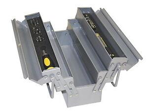 32tlg. Metall Werkzeugkasten Werkzeugkiste Werkzeug Koffer Ratsche Werkzeugbox