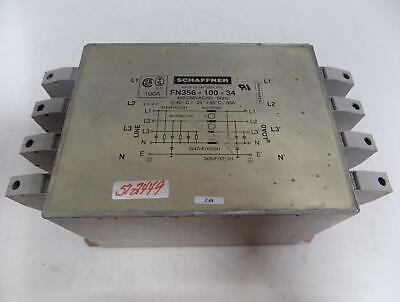 Schaffner 100amp Line Filter Fn356-100-34
