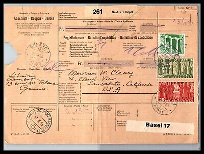 GP GOLDPATH: SWITZERLAND PARCEL RECEIPT 1956 _CV661_P14