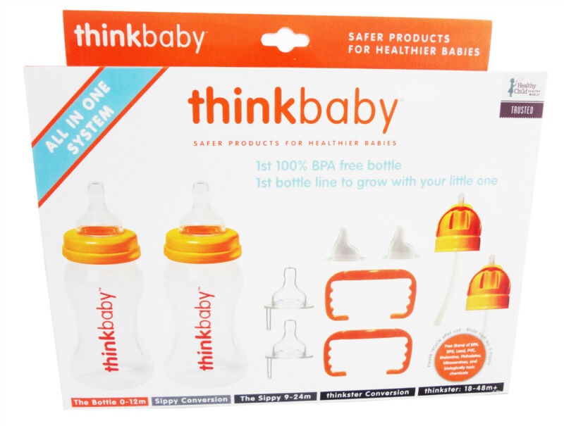 Thinkbaby All In One Bottle Orange/Clear