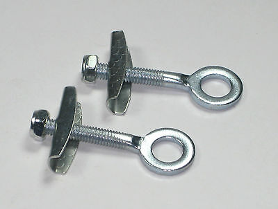 2) Chain Adjuster Tensioners for Mini Pocket bike scooter 6mm thread 54mm long.