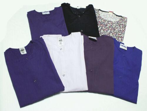 Lot of 7 Scrub Tops~E.W.C./Landau/Dickies/Cotton Scrubs~Size Small & Xtra Small