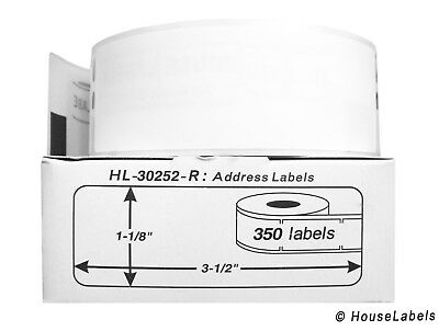 12 Rolls Of 350 Removable Address Labels For Dymo Labelwriters 30252-r