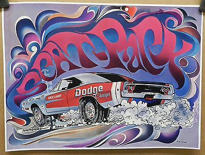 1968 DICK LANDY DODGE CHARGER BOYS SCAT PACK DRAG RACING CAR CRAFT MOPAR POSTER