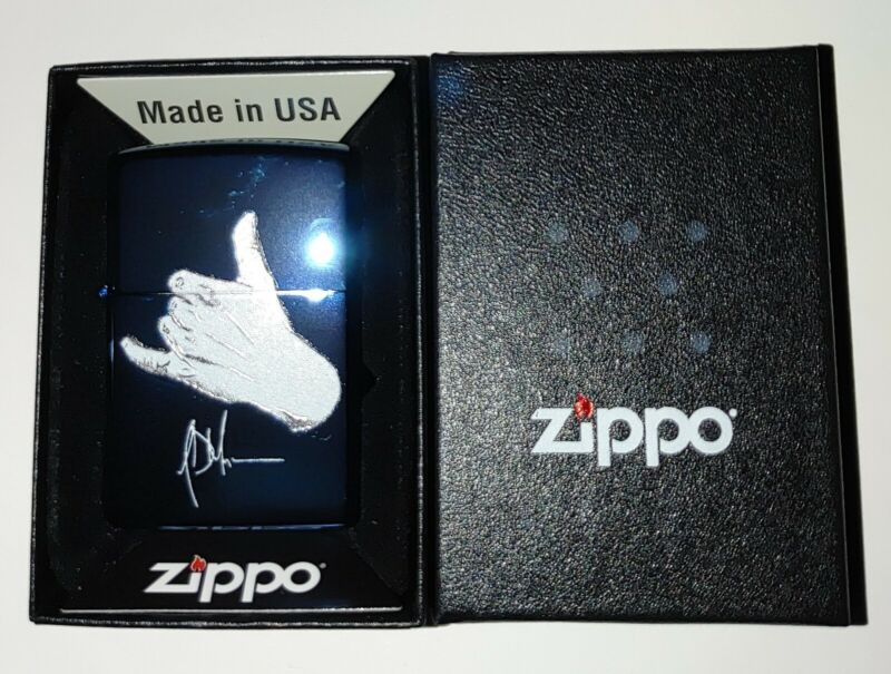 Jeffrey Dean Morgan Exclusive Signature Series Zippo Limited Ed. BLUE METALLIC