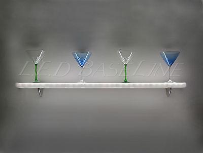 60 Lighted Liquor Bottle Bar Shelves Led Lighted Wall Display Floating Shelves