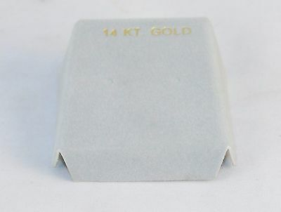 Lot Of 100 Earring Gift Box Inserts 14k Gold Imprint Light Gray 1.75 X 1.5