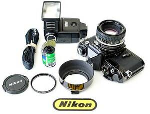 Nikon FE Vintage 35mm Film Camera Kit with Nikon 50mm lens+more Adelaide CBD Adelaide City Preview