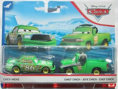 ++ Disney Pixar Cars - Chick Hicks & Chief Chick 2-Pack