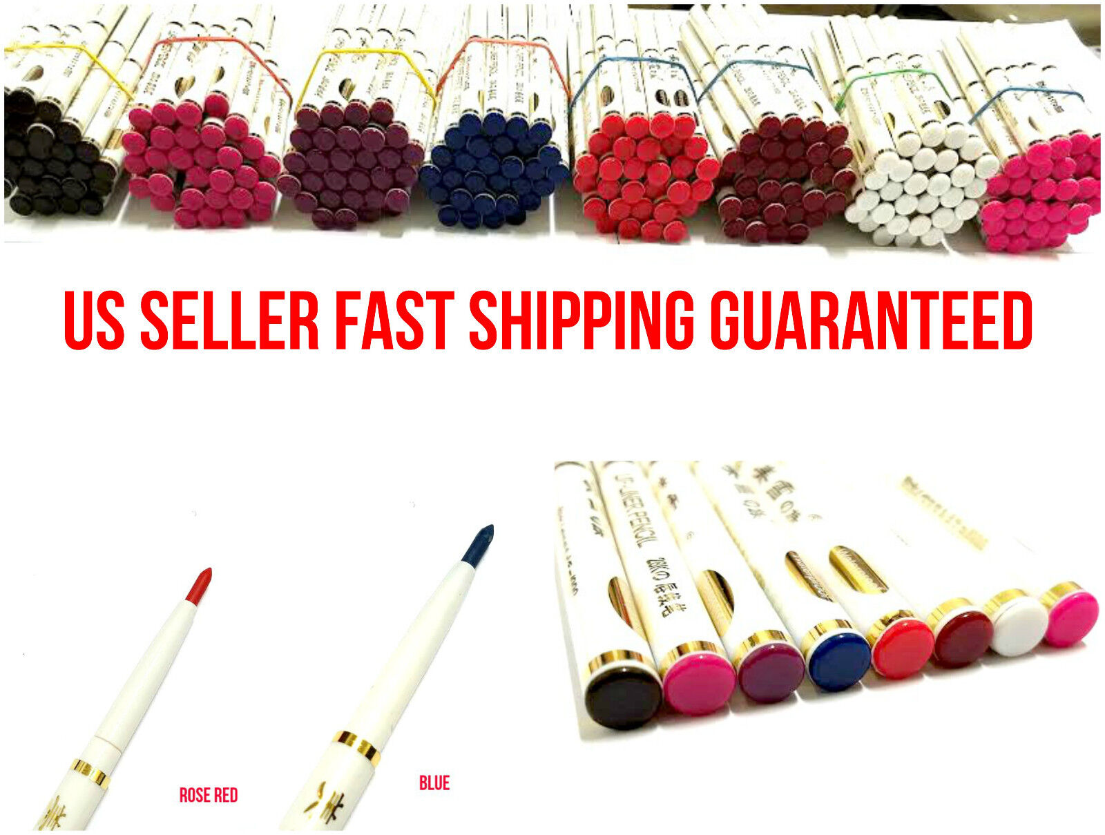Waterproof Lip Liner Revolving Pencil Mouth Makeup 10 Colors