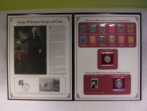 George Washington Stamps & Coins Commemorative Collection 1982 Half - 90% Silver