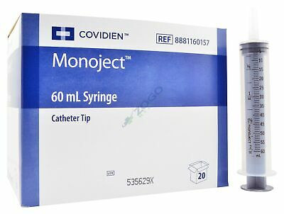 Monoject 60cc Syringe - Catheter Tip - No Needle Non-sterile - Box Of 20
