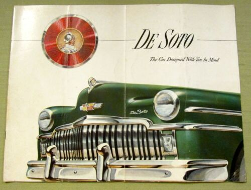 Vintage original DESOTO CAR AUTO SALES BROCHURE CATALOG de soto advertisement ad