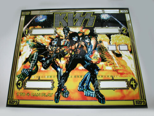 """Bally """" KISS """" pinball HIGH QUALITY / THICK translite reproduction of backglass"""