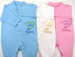 I Love My Nanny Nanna Nana Grandma Nan Baby Grow Vest