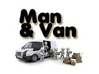 REMOVALS MAN AND VAN SERVICE AVAILABLE 7 DAYS A WEEK 8AM TO 11PM 07967002805