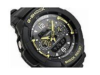 CASIO G-SHOCK Men's Quartz Watch, Black Dial Analogue/Digital Display and Resin Strap GW-3500B-1AER