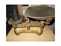 Old Thornton scales and weights, animal feed weighs to 28LB