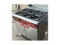 Bartlett gas cooker reconditioned on wheels bottle gas