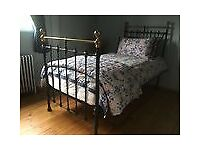 Bedstead, Iron & Brass, Victorian, Superb