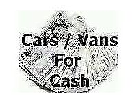 Cars and vans bought for cash damaged non runners scrap mot failures