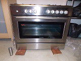 Westinghouse 900mm electric oven, five burner gas stove. Reedy Creek Gold Coast South Preview