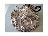 SILVER PLATED TEA SET (1990's)