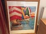 Boat race framed picture