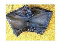 Girls 9yr Indigo denim shorts from pet and smoke free home