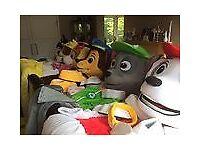 NEW Paw patrol Chase Marshall Sky Rubble Zuma Ryder Adult Fancy Dress Mascot Costumes