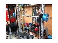 Smith machine and weights bench