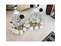 Seven Wedding Table Centrepieces Hand Crafted