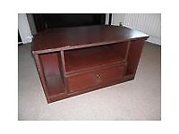 Mahogany effect wooden TV cabinet