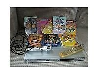Karaoke/DVD player with discs and mic