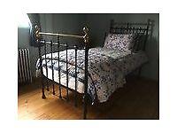Bedstead, Iron & Brass, Victorian, Superb FINAL REDUCTION!!