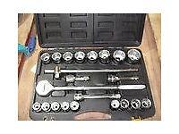 """Siegen tools 22 piece 3/4"""" drive socket set BNIB"""