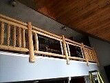 For Hire- Log Stairs & Railings