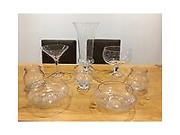 GLASS BOWLS/VASES (SWEETS,WEDDING,PARTIES,HOUSEHOLD)
